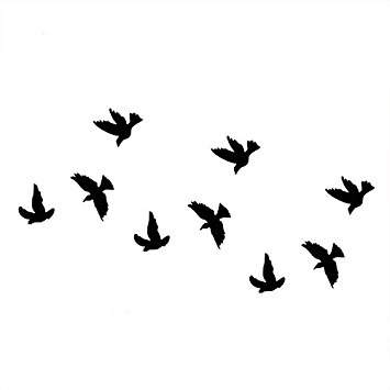 355x355 Swallow Tattoo Body Art Temporary Tattoo Sticker
