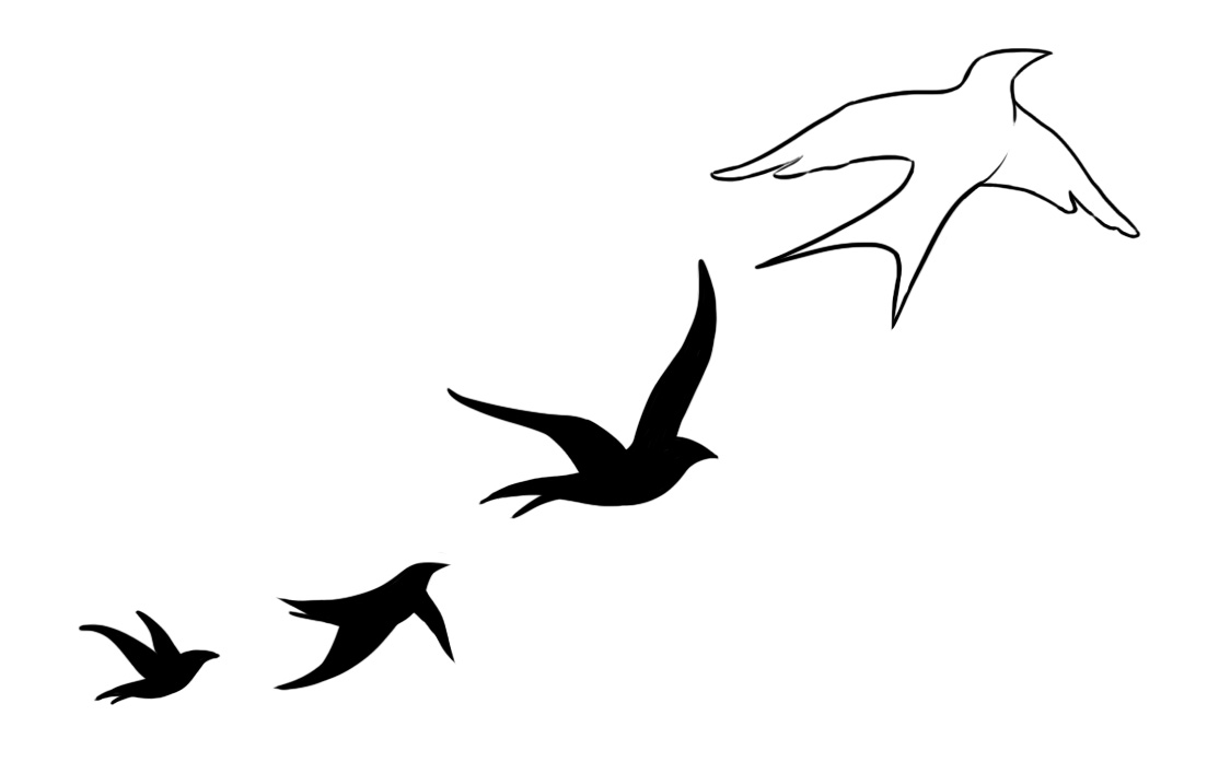 1114x708 Bird Tattoo Clipart Swallow Little Pencil And In Color Lemonize