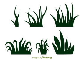 285x200 Vector Grass Silhouette Free Vector Graphic Art Free Download