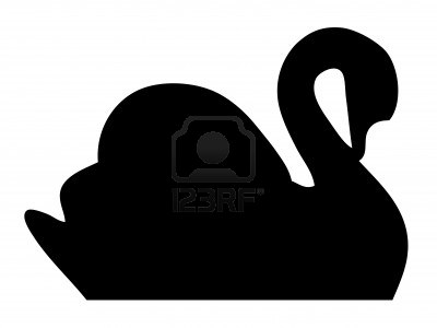 400x300 Swan Silhouette Stock Photo Silhouettes Swans