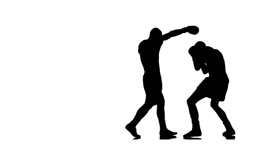 852x480 Self Defense, Silhouette Of An Aggressive Gangster Attacks A Man