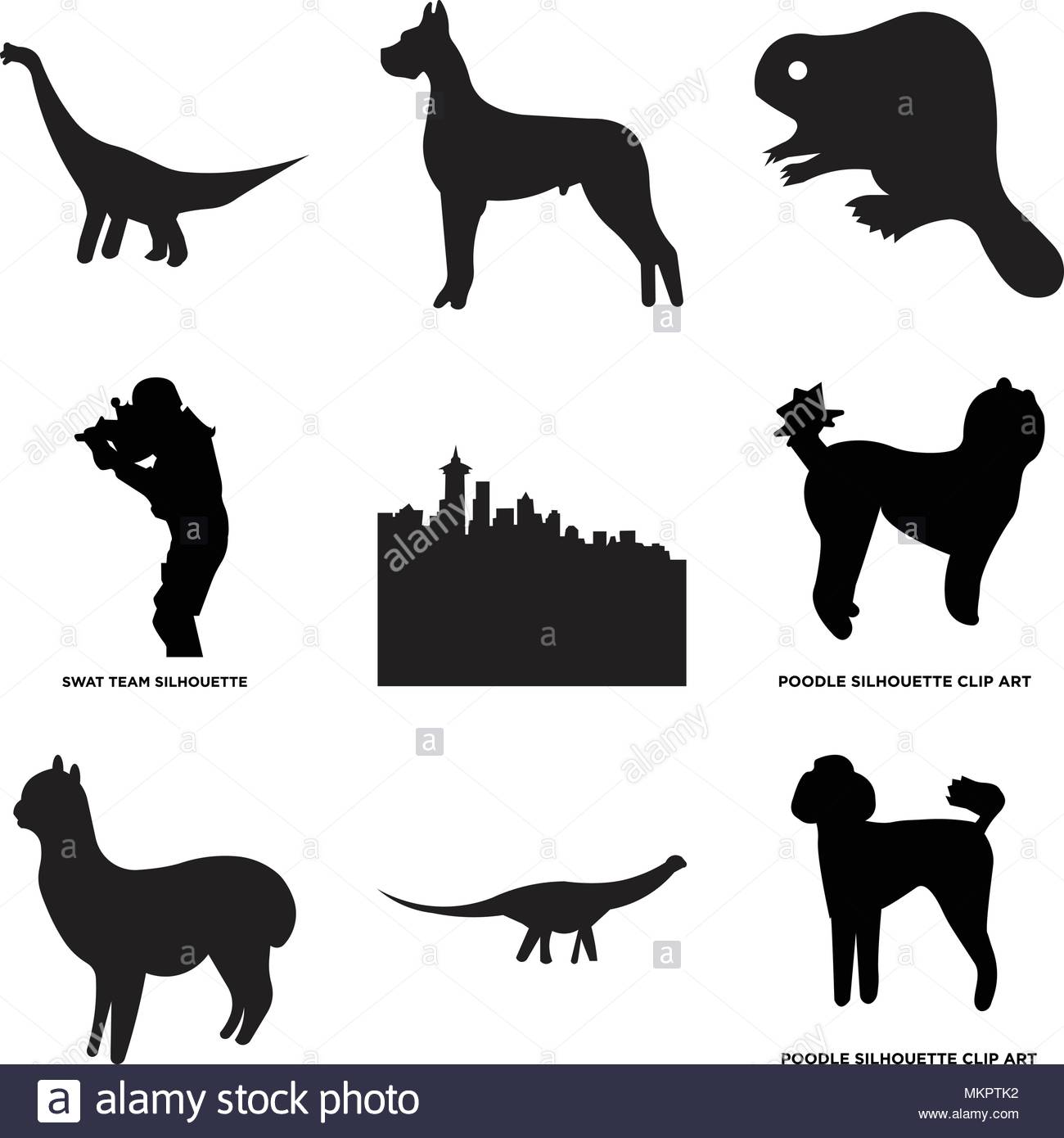 1300x1390 Set Of 9 Simple Editable Icons Such As Poodle, Swat Team, , Can Be