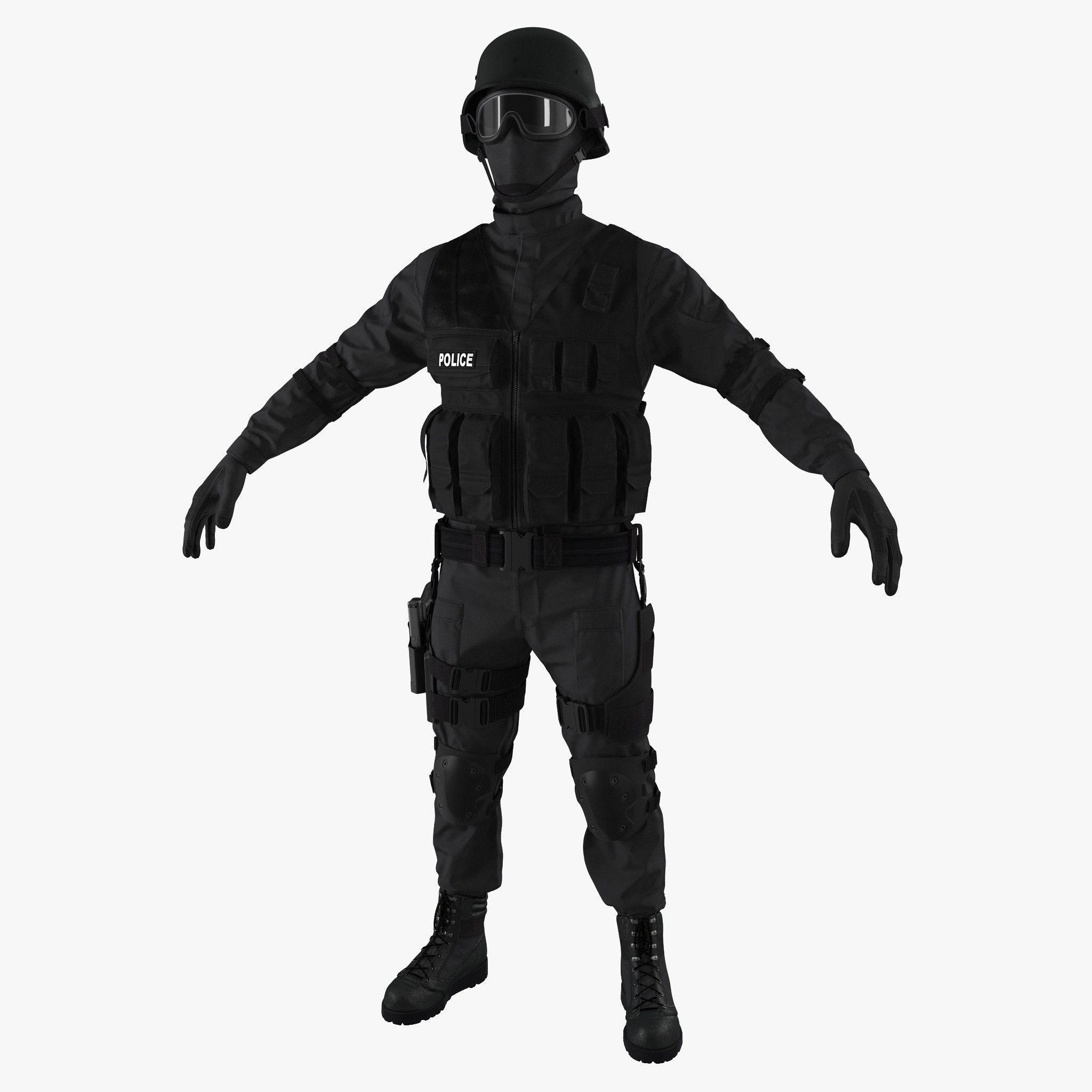 2048x2048 Swat Uniform 2 C4d Swat