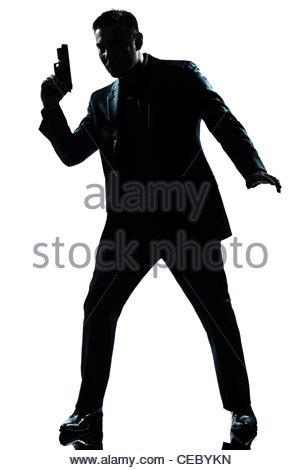 300x470 Policeman Holding Gun Stock Photo 18505944