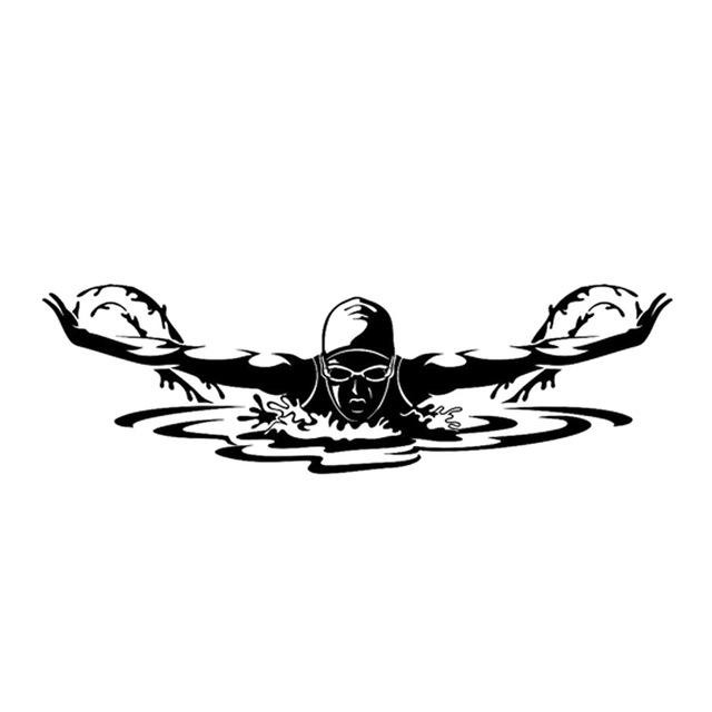 Swimmer Silhouette