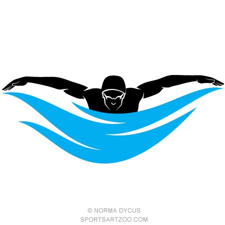 450x450 Male Swimmer Butterfly Stroke Male Swimmers, Vector Clipart