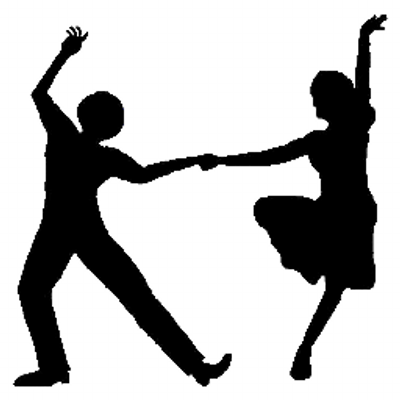 Swing Dancers Silhouette