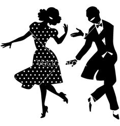 236x248 Silhouette Swing Dancing Couple By Dance Clipart