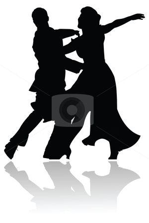 300x450 Swing Dance Couple Silhouette Stock Vector Patronepatterns