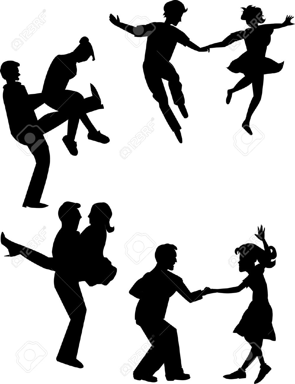 998x1300 Dancing Clipart 60'S