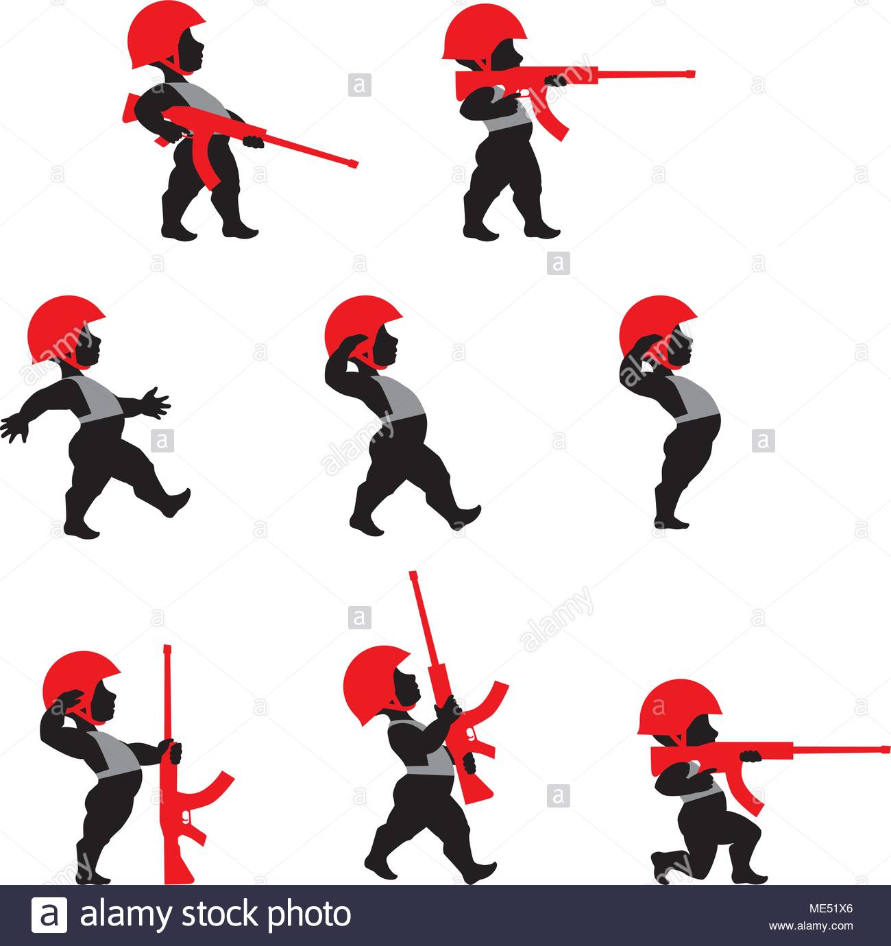 1300x1380 Soldiers Silhouette Stock Vector Images