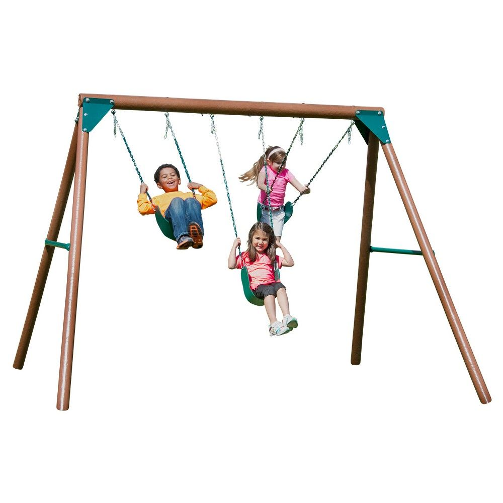 1000x1000 Solstice Swing Set, Multi Colored Swings