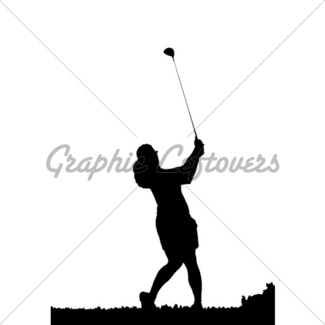 325x325 Golf Swing Silhouette Gl Stock Images