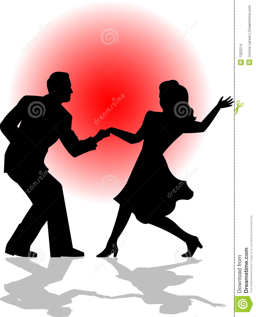 1052x1300 Couple Clipart Swing Dancing Pencil And In Color Showy Silhouette