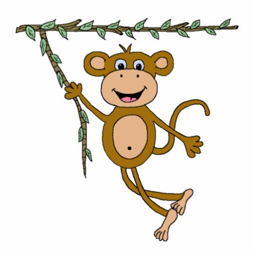 512x512 Swinging Monkey Clipart