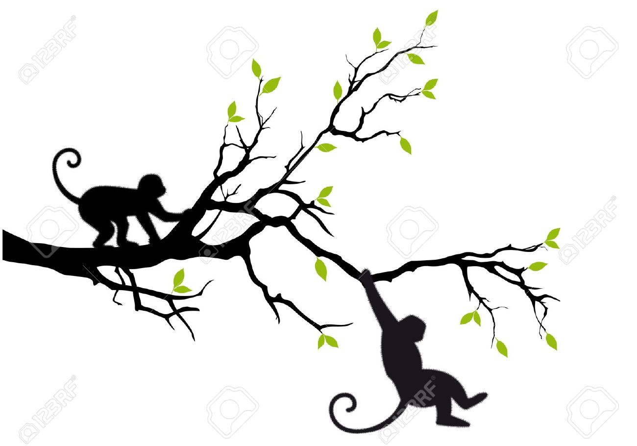 1300x910 In A Tree Clipart Silhouette