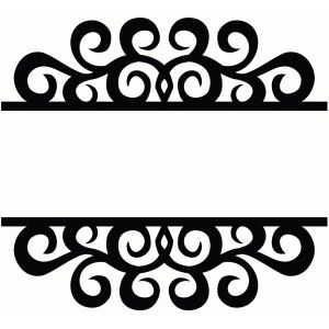 300x300 Split Swirl Flourish Silhouette Design, Flourish And Silhouette