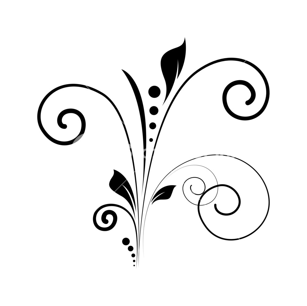 1000x997 Swirl Vector Silhouette Royalty Free Stock Image