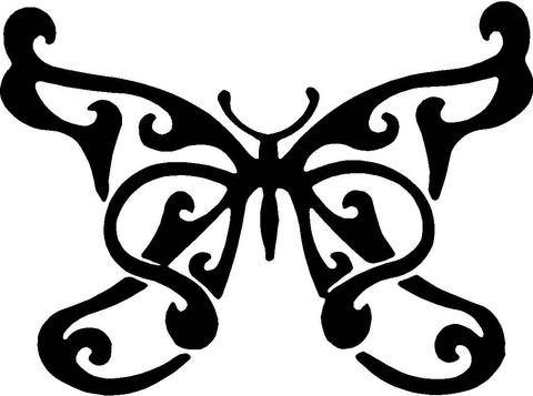 480x357 Butterfly Swirl Svg Cut File For Vinyl And Paper Cutters