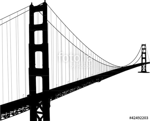 500x404 Silhouette Of Golden Gate Bridge Stock Image And Royalty Free
