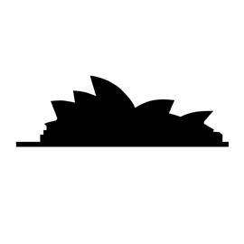 270x270 Sydney Opera House Silhouette Stencil Free Stencil Gallery