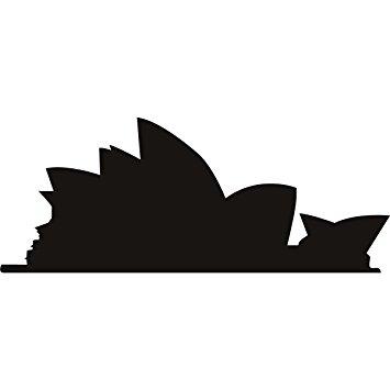355x355 Sydney Opera House Wall Art Sticker 37 02