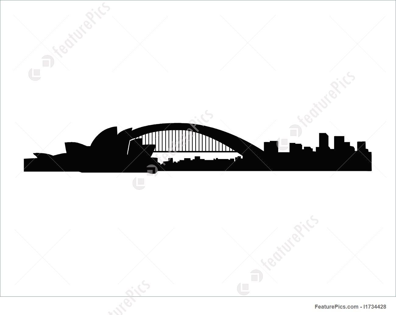 1300x1034 Sydney Skyline Illustration
