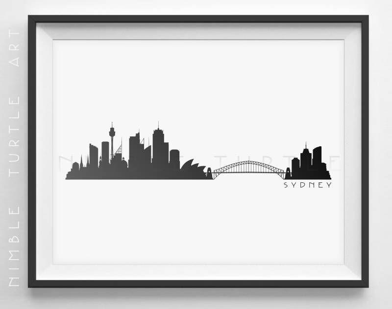 800x632 Sydney Skyline Silhouette