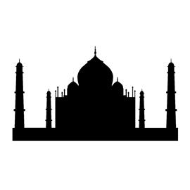 270x270 Taj Mahal Silhouette Stencil Free Stencil Gallery