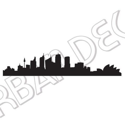 480x480 Urban Decal Sydney Skyline Decal