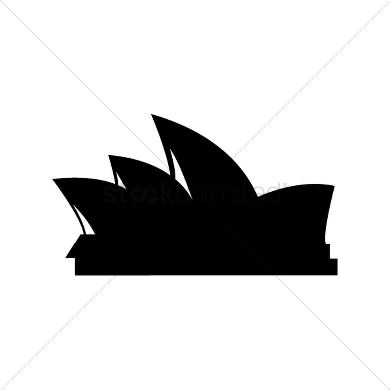 1300x1300 Free Sydney Opera House Vector Image