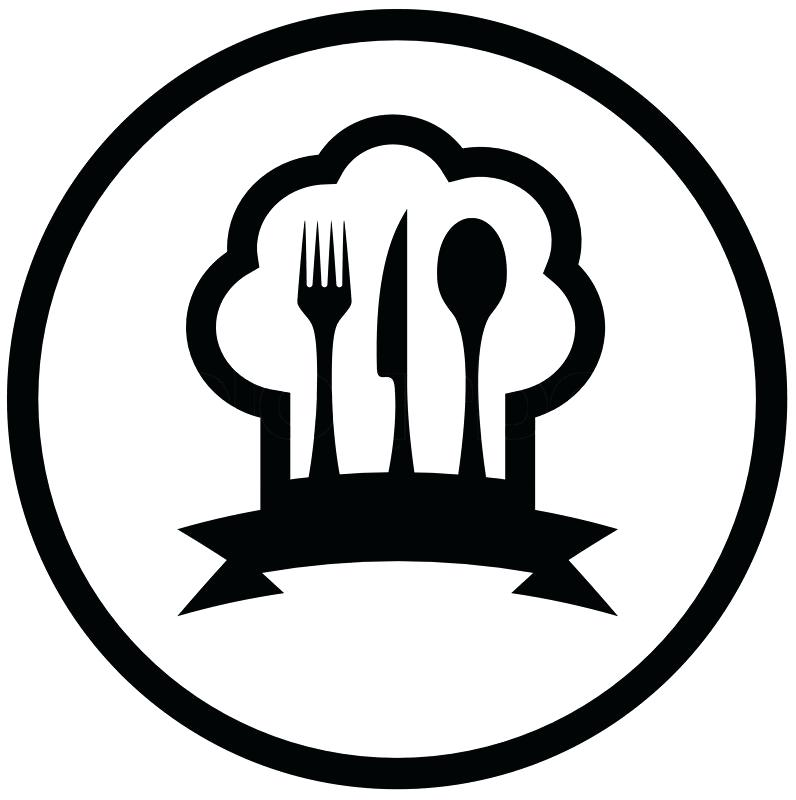 796x800 Kitchen Utensils Silhouette Vector Free Round Food Icon With Chef