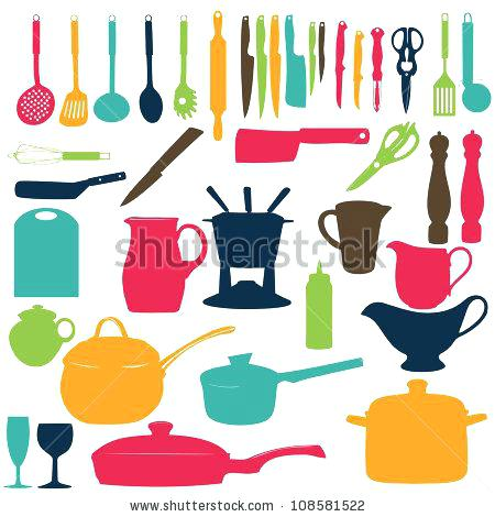 450x470 Kitchen Utensils Split Silhouette Kitchen Utensils Silhouette