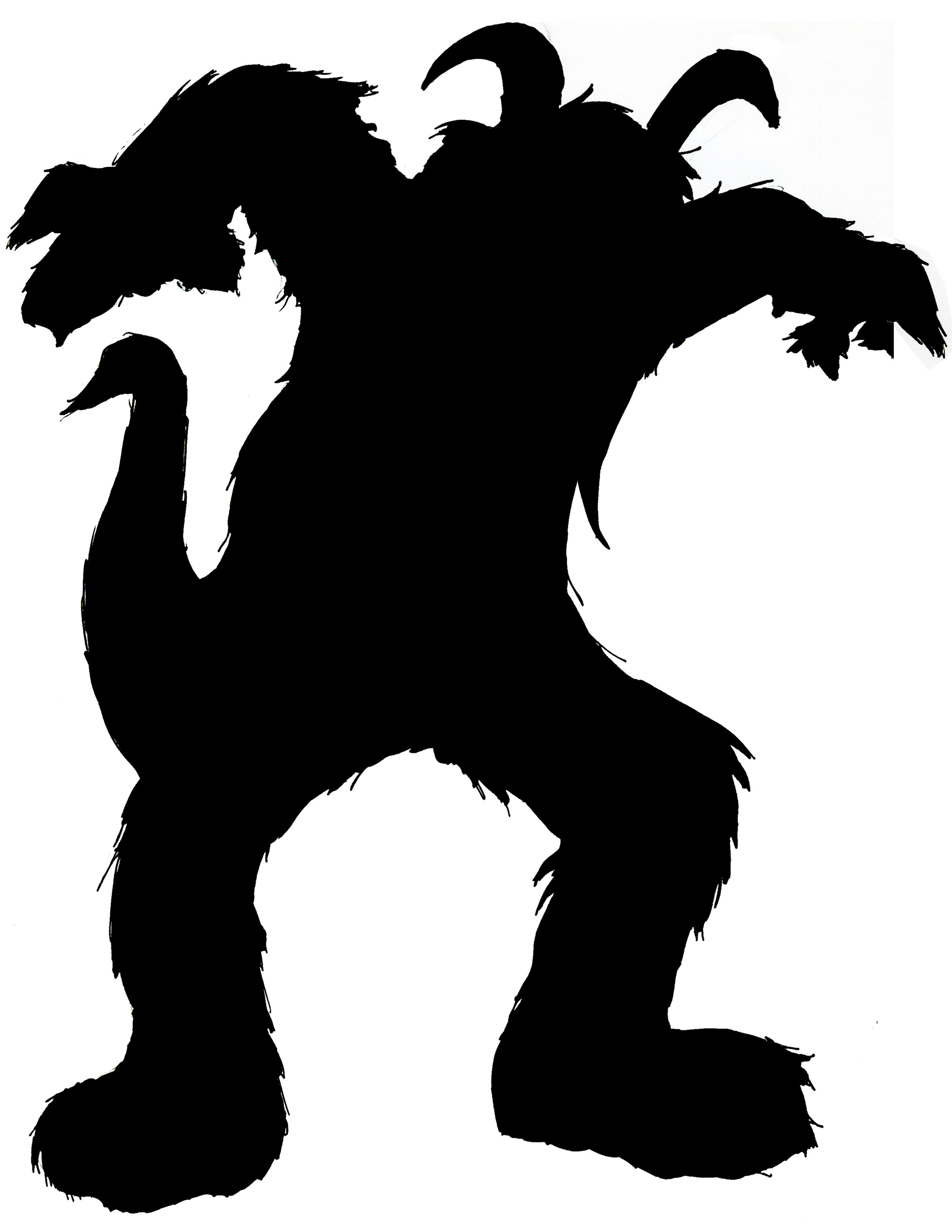 2550x3300 Monster Silhouette