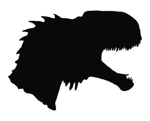 480x389 Tyrannosaurus Rex Head T Rex Silhouette Die Cut Vinyl Decal