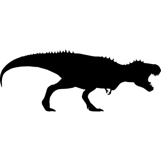 626x626 Tyrannosaurus Rex Dinosaur Silhouette Icons Free Download
