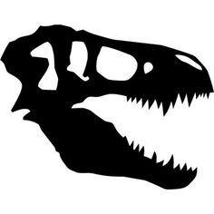 236x236 Craneo De T Rex Stencil Disfraces Dinosaurio