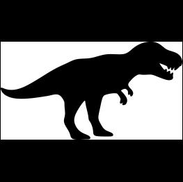 263x262 T Rex Silhouette Rex Silhouettes, Cricut