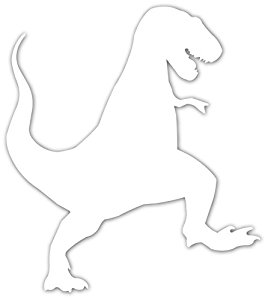 268x300 Awesome T Rex Silhouette Godzilla Vinyl Decal Bumper
