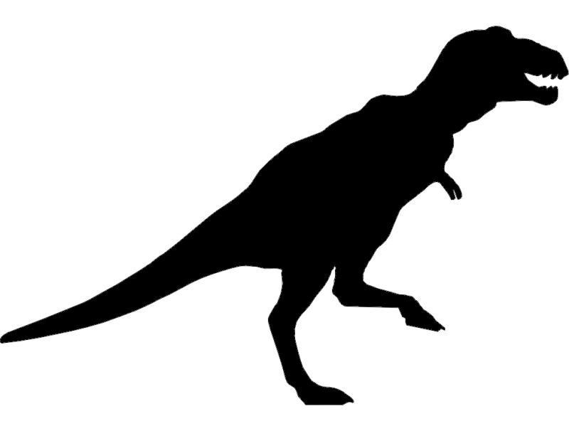 800x606 Trex Dinosaur Silhouette Dxf File Free Download
