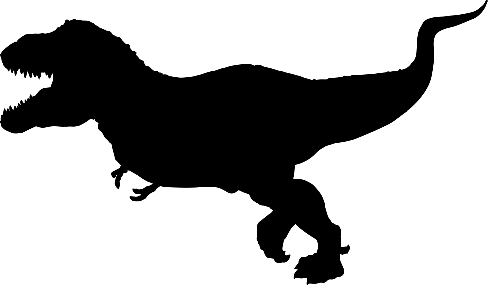 982x574 Tyrannosaurus Rex Silhouette Svg Png Icon Free Download ( 35010