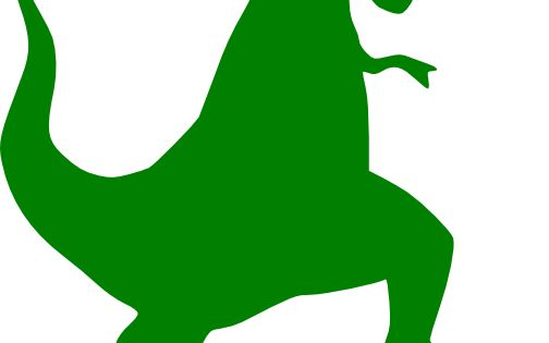 504x315 Green T rex Silhouette clip art – vector clip art online, royalty