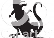 210x150 Clip Art T Rex Silhouette Clip Art