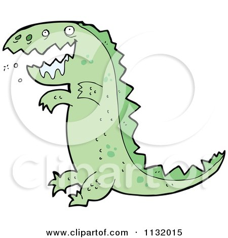 450x470 Cartoon Of A Drooling Green T Rex Dinosaur