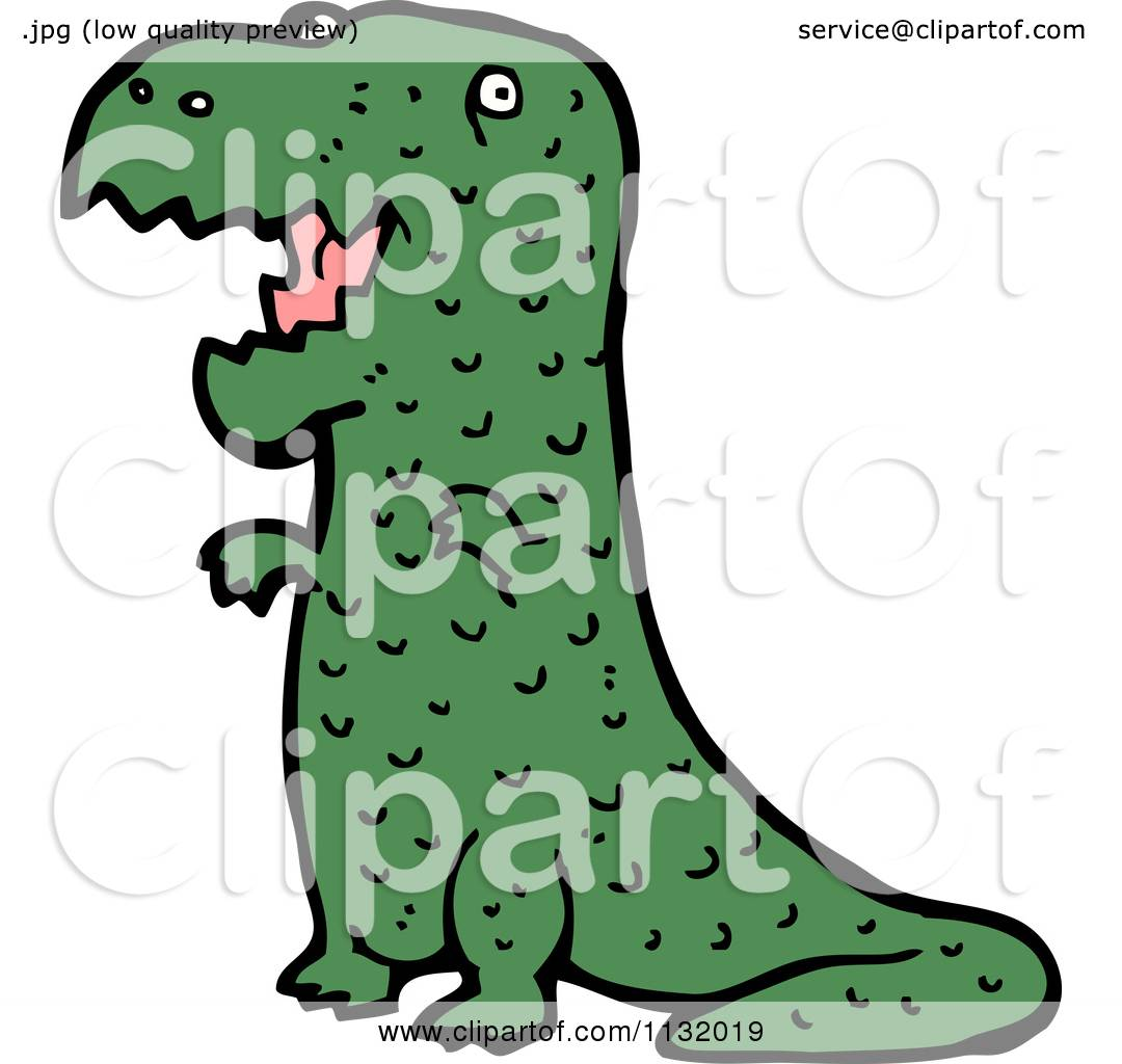 1080x1024 Cartoon Of A Green T Rex Dinosaur