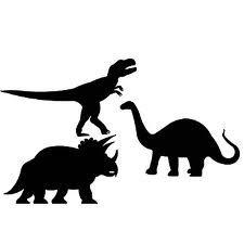 225x225 Silhouette Girl With T Rex Dinosaur Pet Tyrannosaurus Skeleton Art