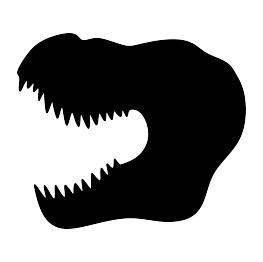 263x262 T Rex Head Silhouette Coloring Pages 2, Templates And Not Only