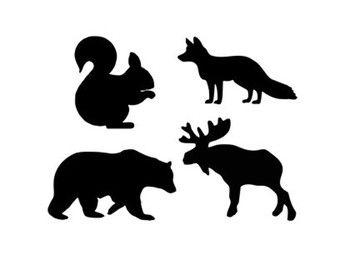 340x270 Woodland Animals Svg Dxf Jpeg Png File Stencil Monogram Frame