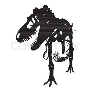 320x320 Dinosaur Skeleton 3d Background. Seamless Pattern Of Bone