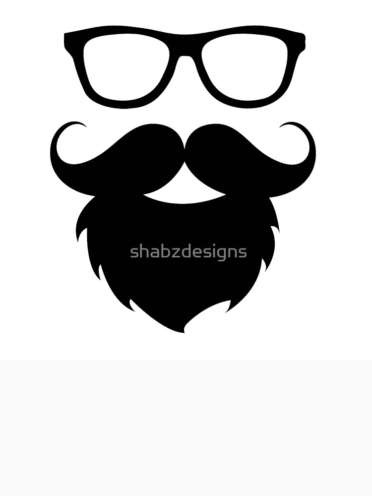 750x1000 Funny Hipster Beard Face Silhouette Classic T Shirt By